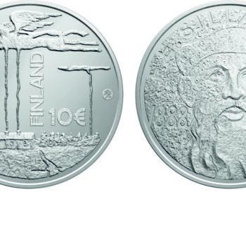 Teoksen nimi: F.E  Sillanpään juhlaraha, arvopuoli (tunnuspuoli R. Paavilainen)
