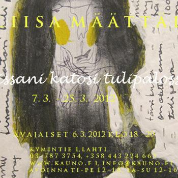 Teoksen nimi: näyttelyjuliste 2012, Lahti