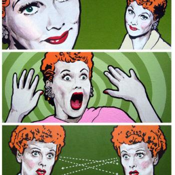 Teoksen nimi: Everybody loves Lucy  , akryyli levylle