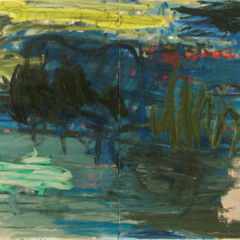 Teoksen nimi: A Place to Be, 2013, öljy kankaalle, 120×240