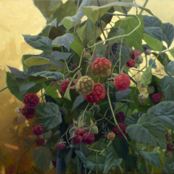 Teoksen nimi: Rubus idaeus. Part II, 2012. Oil on canvas 81x100cm