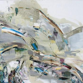 Teoksen nimi: Hopeapaju,130cm x 180cm,  vv 2011