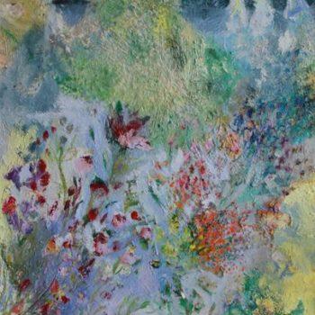 Teoksen nimi: Nanna Jalkanen Flora, oil on canvas 80,5x 60.5 cm 2012