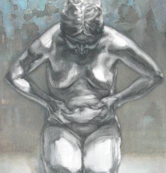 """Teoksen nimi: """"Saavutus"""", öljyväri, 2011"""