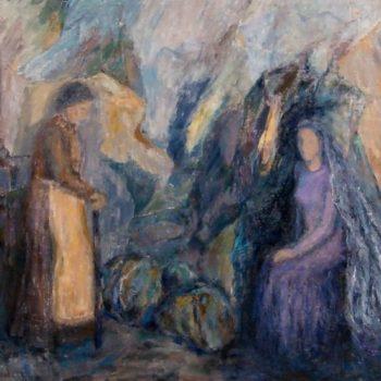 Teoksen nimi: Suru  v. 2001  120 x 160 cm