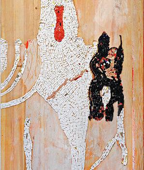 Teoksen nimi: Alavilla mailla Hallan vaara eli Kukkluxklan ulkoiluttaa Baskervillen koiraa 2009