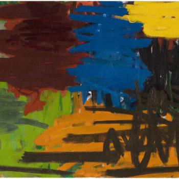 Teoksen nimi: Hei, hei, 2004, öljy kankaalle, 72×110