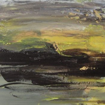 Teoksen nimi: Olen maalannut valoa-sarjasta Kesäyön valoa 2011