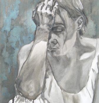 """Teoksen nimi: """"Aikomus"""", öljyväri, 2011"""