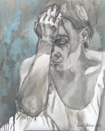 """""""Aikomus"""", öljyväri, 2011"""