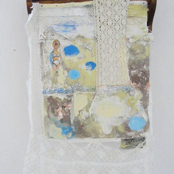 Teoksen nimi: Leikinloppu, assemblaasi, sekatekniikka 51 x 85 x 16 cm  2011