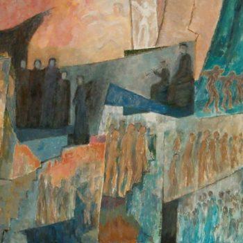 Teoksen nimi: Tuhon sinfonia   v. 2001    120 x 165 cm
