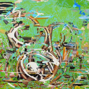 Teoksen nimi: Vihreällä oksalla 2011, 140×164