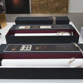 Name of the work: The Scrolls in the boxes 2013 at Gumbostrand Konst & form gallery