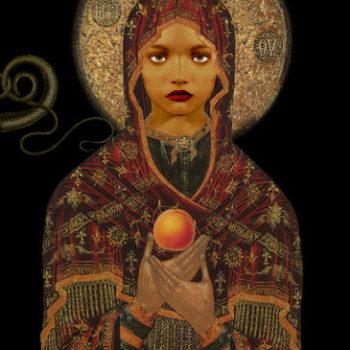 Teoksen nimi: The Madonna of the Apricot and the Snake / Aprikoosin ja käärmeen madonna