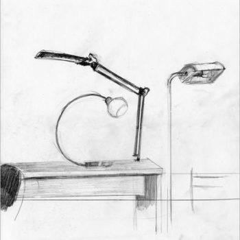 Teoksen nimi: Bauhaus, piirros 2015