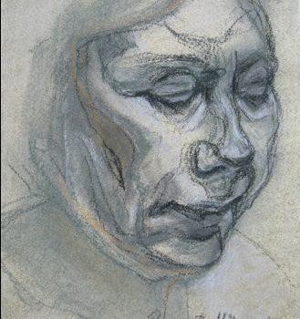 """Teoksen nimi: """"Sisokset 2"""", kuivapastellisarjasta , 2010"""