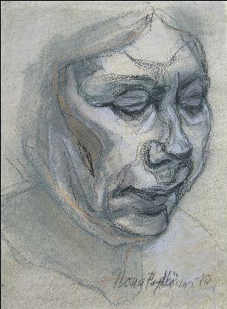"""""""Sisokset 2"""", kuivapastellisarjasta , 2010"""