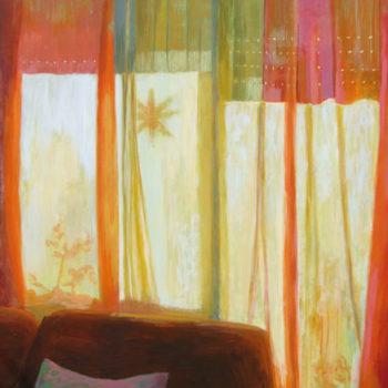 Teoksen nimi: Dall´dentro (Sisältä/From Inside), 2010, akryyli, 130 x 100 cm