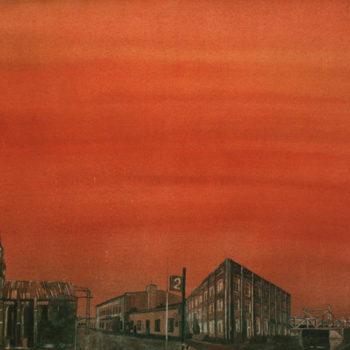 Teoksen nimi: Ruosteenpunainen taivas, 2011