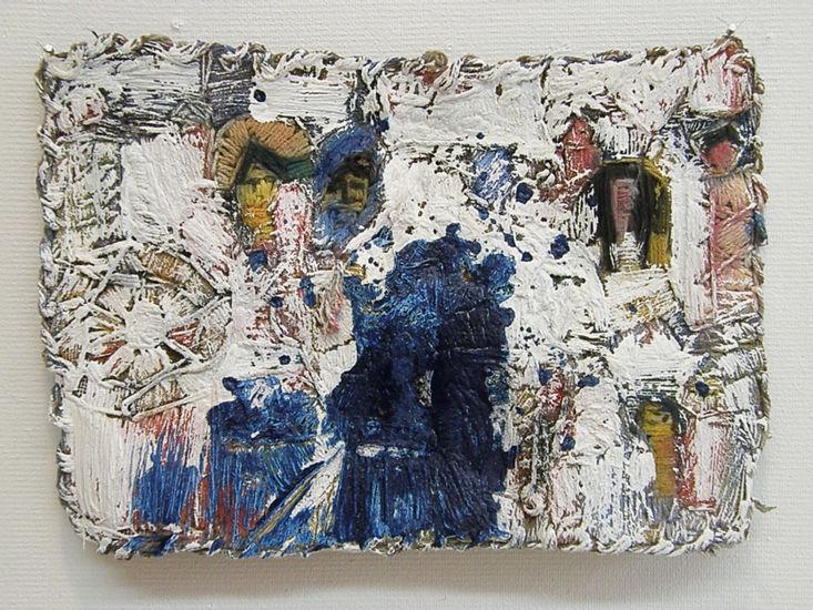 Salamajassa kuin kohdussa, pigmentti, akryyli, ready made, 26 x 34 cm, 2011
