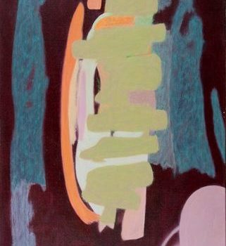 Name of the work: Seremonia – A Ceremony 2007 Akryyli kankaalle Acrylic on canves 130×75 Foto Dusan Jovanovic