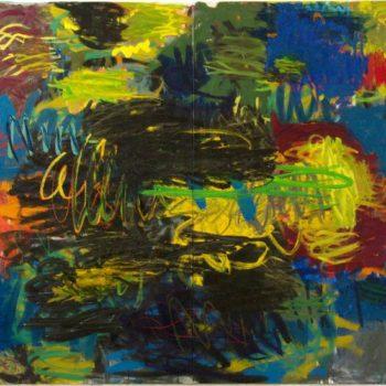 Teoksen nimi: Ei läpikulkua, 2009, öljy kankaalle, 220×240