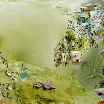 Teoksen nimi: Kuihtuva, 130 x 180 cm 2012