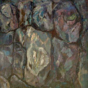 Teoksen nimi: Muuri  v. 2002  150 x 110 cm