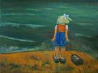 Teoksen nimi: Ajatus, 2012, öljy kankaalle, 60 x80 cm