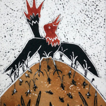 Name of the work: Punapyrstö, Red tail