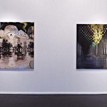 Name of the work: 2 maalausta näyttelystä 2011, 1. Last Trip to Madra Island,  2. Derrière le Paysage  i