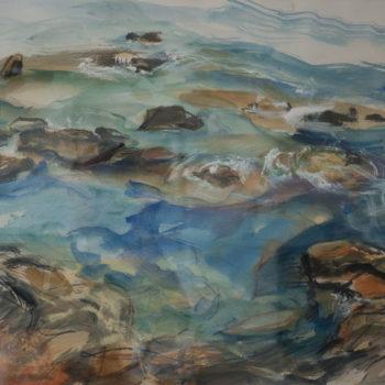 Teoksen nimi: Maisema rannalta 2