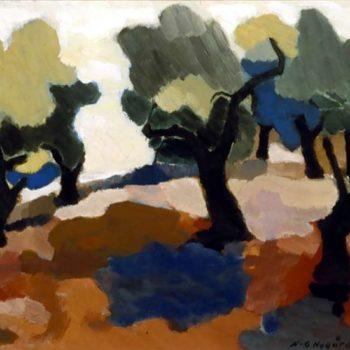 Teoksen nimi: Oliivipuut Ampollassa III