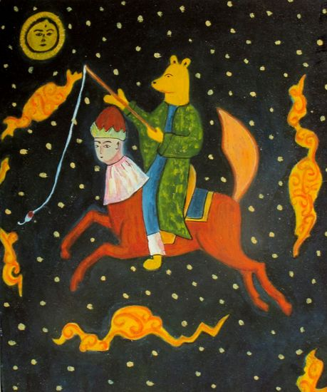 Nalle Huh persialaisessa miniatyyrissä