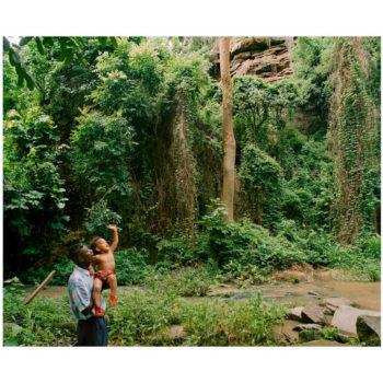 Teoksen nimi: Tyttö ja vesiputous,1998
