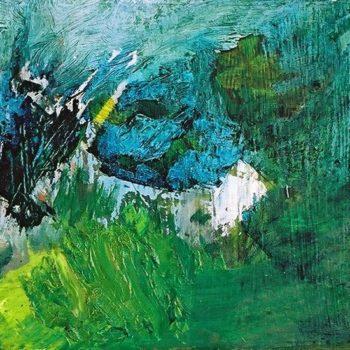 Teoksen nimi: The Bird, 2006 oil on hardboard 21×30 cm