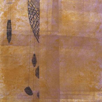 Teoksen nimi: ILOT / JOYS, 27, 2012, monotype, etching, rolling, 28 x 23 cm