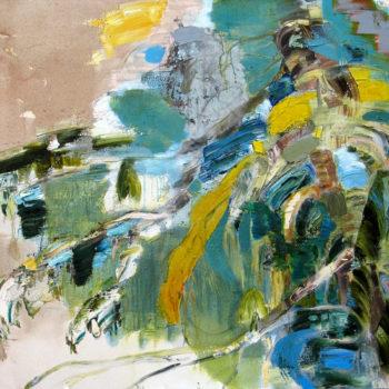 Teoksen nimi: Kuusi, 120 x 160 cm, 2012