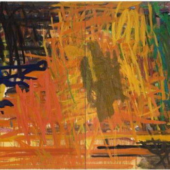 Teoksen nimi: Juhlat jatkukoon, 2005-2006, öljy kankaalle, 150×330