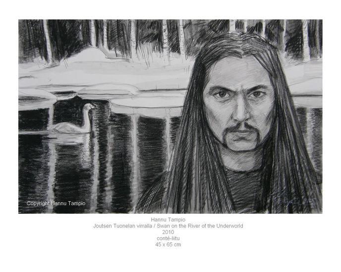 Joutsen Tuonelan virralla / Swan on the River of the Underworld