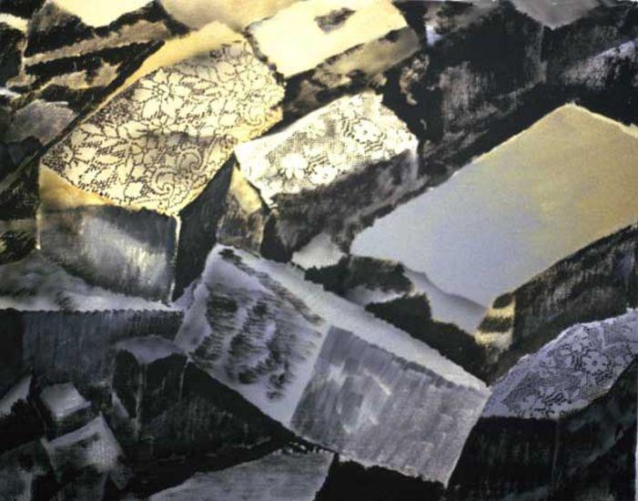 Louhos, akryyli kankaalle, 110×130 cm