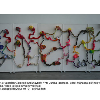 Teoksen nimi: Yhtä juhlaa ääniteos, 2012