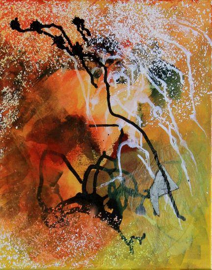 Crystalline,Water, Ice, Cave  akryyli (sekatekniikka)  kankaalle, acrylic and mixed media painting on canvas 41×33 cm 2015