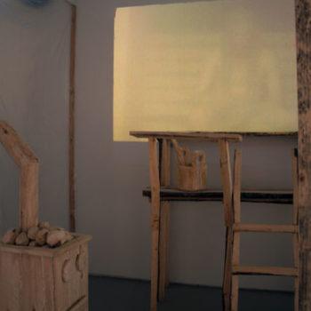 Teoksen nimi: Unelma omasta saunasta  2012