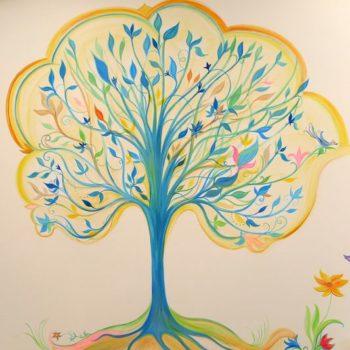 Teoksen nimi: sininen taikapuu/ Niinipuun päiväkoti