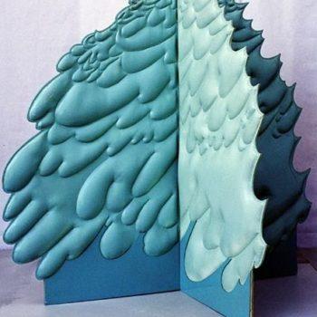 Teoksen nimi: Vihreä pensas 150x150x138 cm