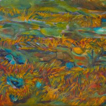 Teoksen nimi: Suolta, 2012, öljy kankaalle, 50 x 70 cm