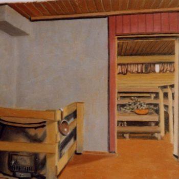 Teoksen nimi: Saunamiljöö Vaherma 1999