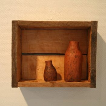 Name of the work: Kaksi pulloa maisemassa